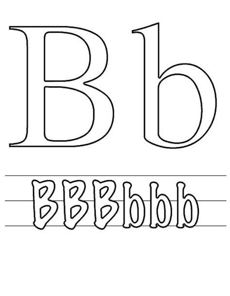 Capital B Coloring Page by Letter B Coloring Pages For Preschoolers Letter B Is For