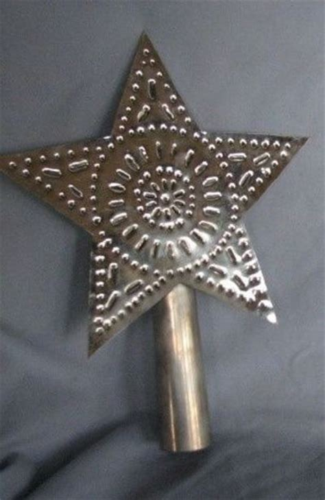 Handmade Tree Toppers - rustic handmade punched tin tree topper