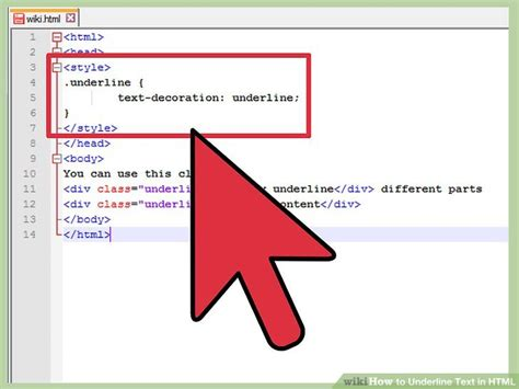 css underline color how to underline text in html with pictures wikihow