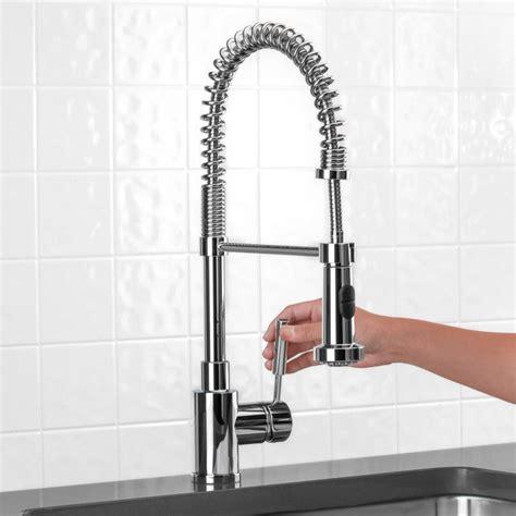 blanco meridian semi professional kitchen faucet buy blanco 440558 meridian single handle semi professional pull kitchen faucet riverbend home