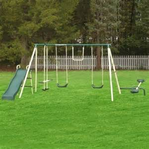 flyer backyard swing set flyer backyard flyer 6 station metal swing set