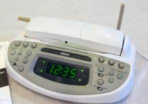 Bedroom Cordless Phone With Alarm Clock 26980ge1 A Bedroom Featured Dual Alarm Clock Radio