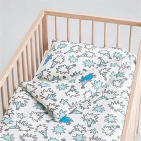 Hedgehog Crib Bedding Ikea Tassa Igelkott Crib Hedgehog Duvet Cover Pillowcase Set Nursery Bedding Blue White
