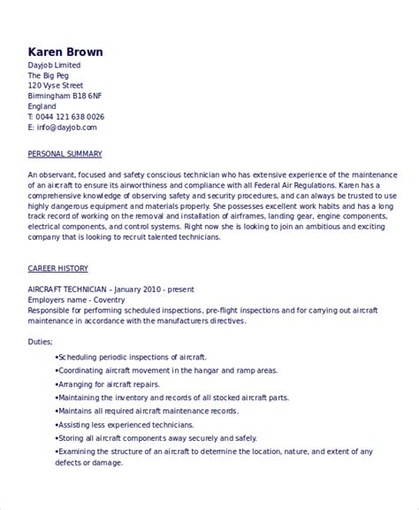 Mechanic Resume Template by Mechanic Resume Template 6 Free Word Pdf Document