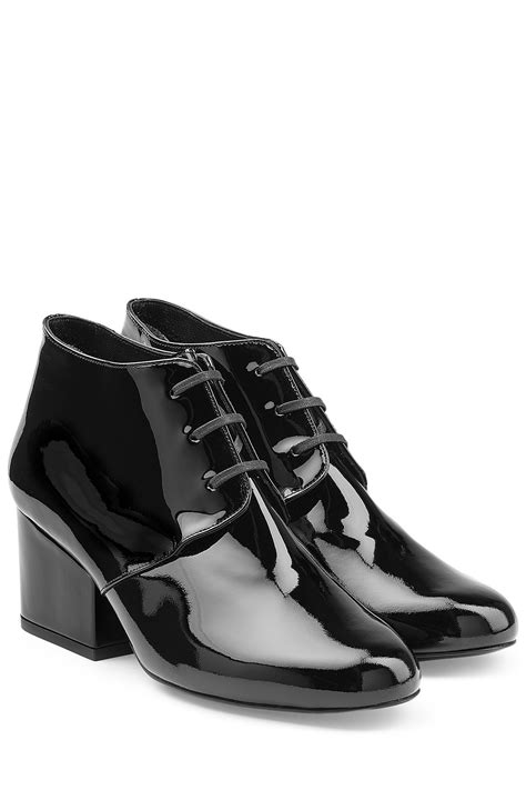 Patent Leather by Lyst Robert Clergerie Patent Leather Lace Up Ankle Boots