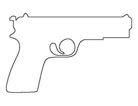 gun clipart stencil printable pencil and in color gun