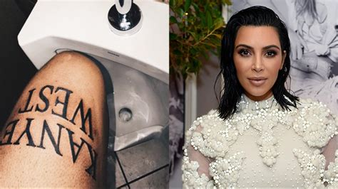 kim kardashian tattoos approves of fan s tattoos of