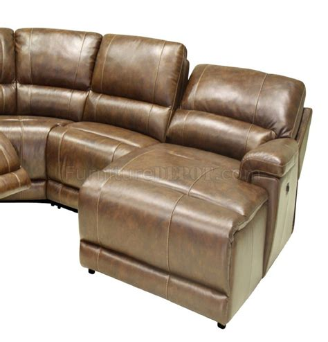 Motion Sectional Sofas Hazelnut Leather 6pc Modern Motion Reclining Sectional Sofa