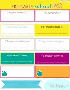 printable name tags for books 1000 images about school back to school on pinterest