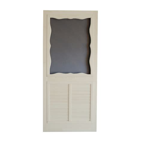 Screen Doors Lowes by Shop Screen Tight Wood Screen Door At Lowes