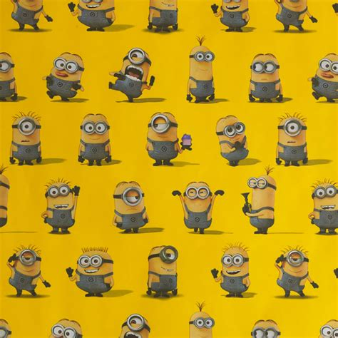 minion gift wrap despicable me roll wrap at wilko
