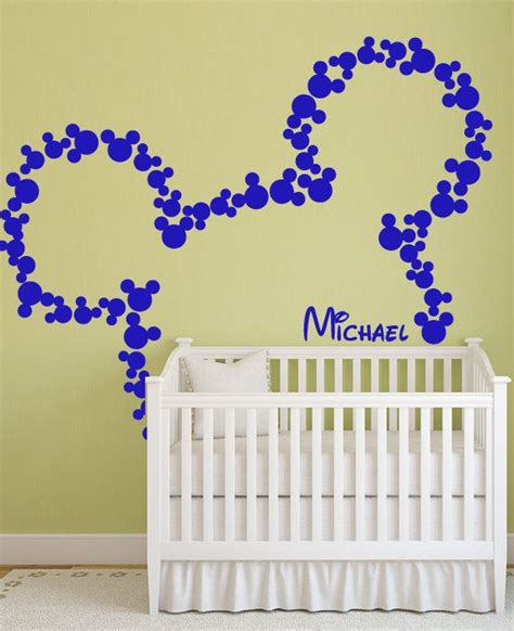 disney wall stickers for bedrooms vinyl wall decal disney mickey mouse mice ears custom baby name home house wall decals