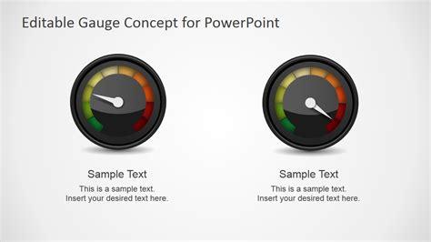Editable Gauge Concept For Powerpoint Slidemodel Powerpoint Dashboard Gauges