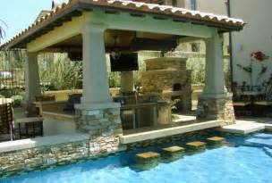 Outdoor Kitchen Pool Ideas by Pics Photos Backyard Designs With Pool Outdoor Kitchen Ideas