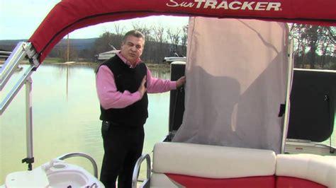 boat n rv 2008 sun tracker pontoon walktrhough by boat n rv