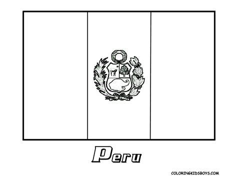 Bandera De Peru Coloring Pages | peru flag coloring page free coloring home