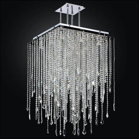 Square Chandelier Crystal Drop Chandelier Cityscape Drop Chandelier