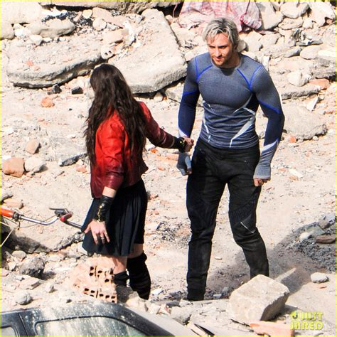 quicksilver film ita update more avengers 2 set videos pics of scarlet witch