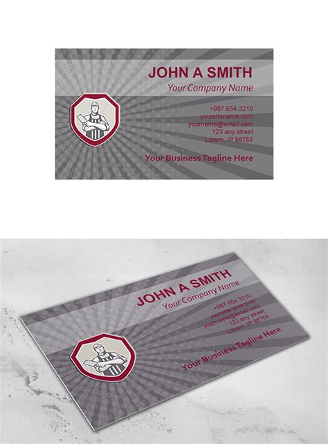 shield business card template business card template butcher business card