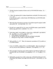 Acs Exam General Chemistry Ii Sample Test Bank Page 1of