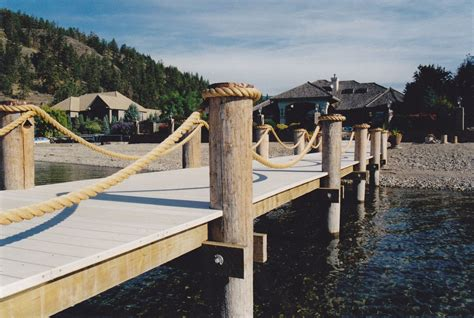 boat dock ropes rope railing shoreline piledriving boat lifts