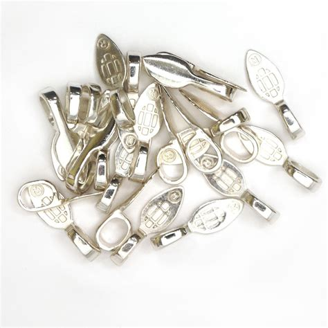 bails for jewelry large sterling silver plated jewelry bails 25 pack