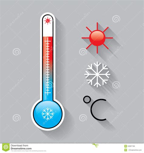 Icons For Temperature Stock Vector   Image: 53997196