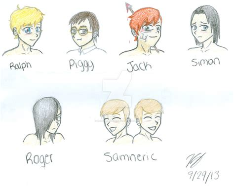 symbols in lord of the flies with page numbers lord of the flies characters by daisyfan123xd on deviantart