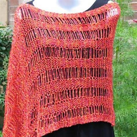 Drop Stitch Ribbon Shawl Or Poncho By Kristin Omdahl Craftsy