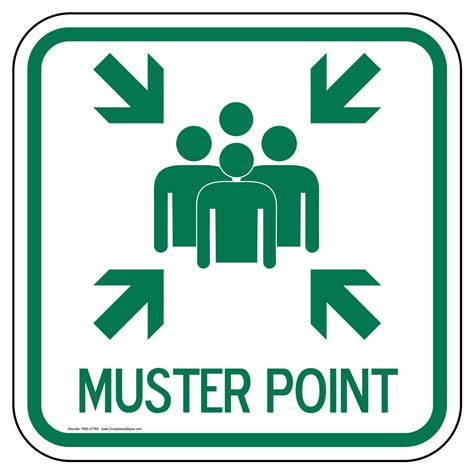 Muster Point Muster Point Sign Pke 27760 Emergency Response Rescue