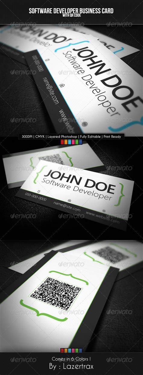 Software Developer Business Card Template by 17 Best Ideas About Business Card Software On