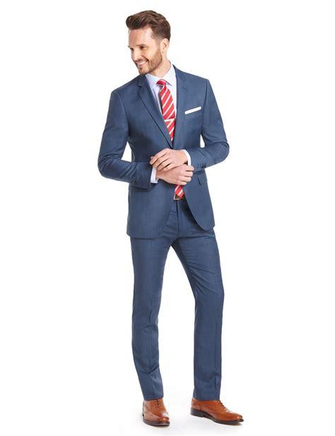 Slim Fit s blue sharkskin slim fit suit 120s wool