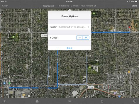 print driving directions ipad how to print driving directions directly from iphone ipad