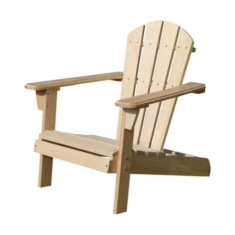 Unfinished Wood Adirondack Chairs by Unfinished Wood Adirondack Chair Kit Adc0292200000