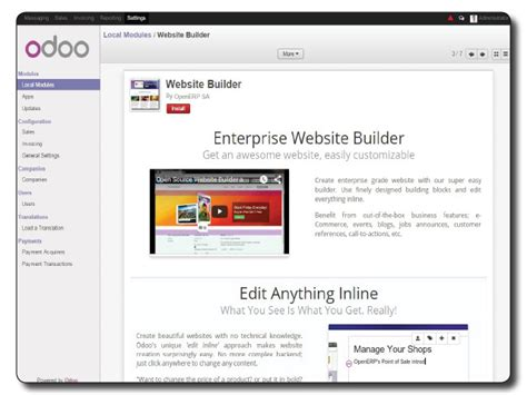 templates for erp website odoo from erp to crm ecommerce to cms turnkey gnu linux