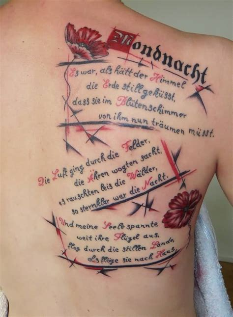 tattoo poems for men 25 poem back tattoos golfian
