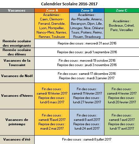 Calendrier Avec Vacances Scolaires 2017 Les 10 Calendriers Indispensables De 2017