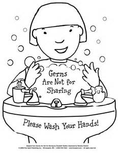 free printable coloring page to teach kids about hygiene