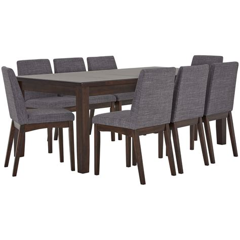 table with upholstered chairs city furniture hayden gray rectangular table 4