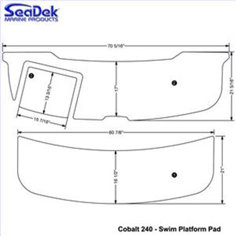 cobalt boat swim platform parts seadek swim platform pads for cobalt models choose model