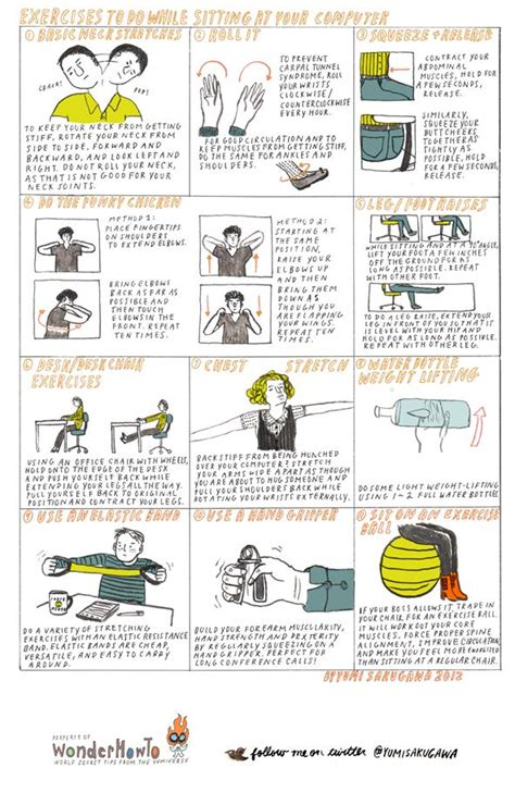 Exercise At Desk by Exercises To Do At Your Desk Myideasbedroom