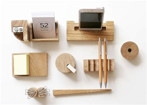 wooden desk accessories by russian designers nasya kopteva