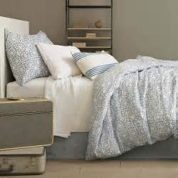 chambray bed linen linen chambray blue bed skirt design by