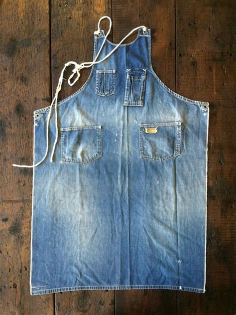 pattern for jeans apron full apron smock from old jeans denim diy sewing