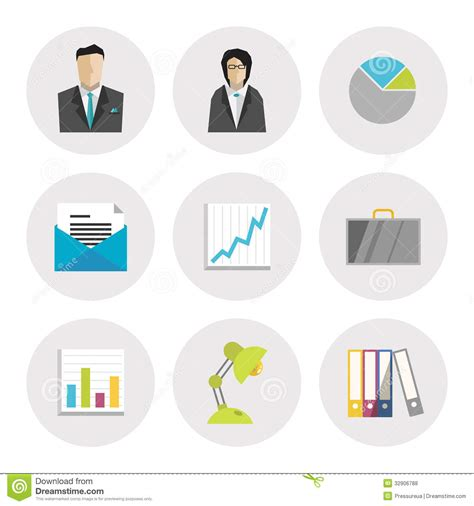 icon design company business icons in flat design royalty free stock photos