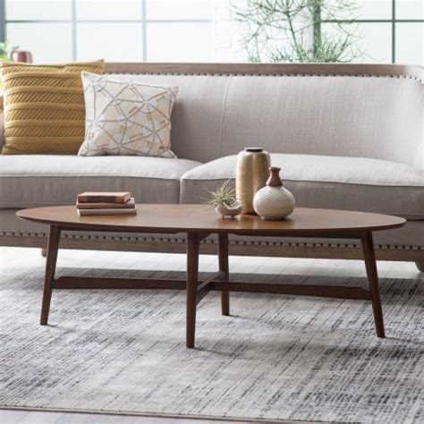 mid century oval coffee table darby mid century modern coffee table oval top made with