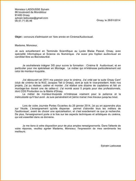 Lettre De Motivation Apb Bts 6 Lettre De Motivation Apb Lettre De Demission