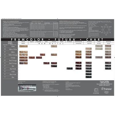 framesi color chart framcolor futura paper chart