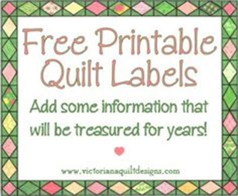 quilt labels on celtic quilt embroidered