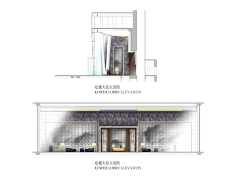 Lower Lobby Elevation For The Four Seasons Hotel Guangzhou Hotel Building Plans And Elevations